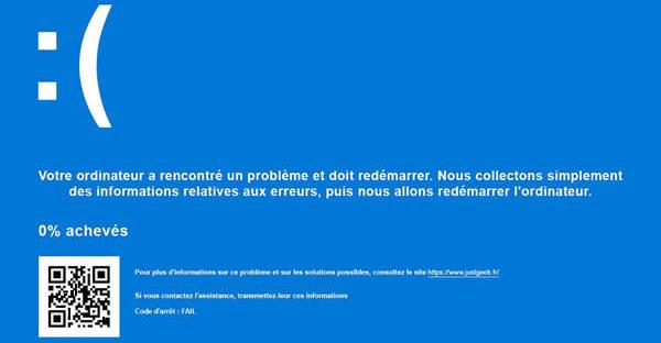 Ecran bleu Windows Ranarison Tsilavo NextHope